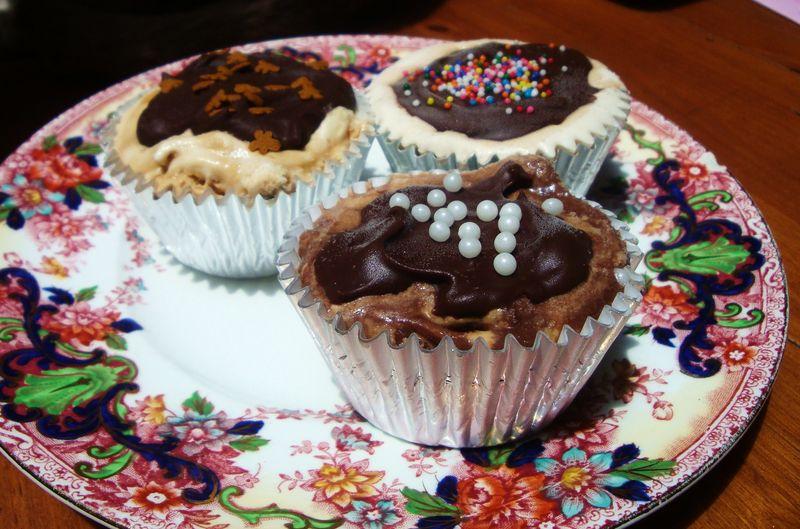 Brownie bottom ice cream cupcakes - Alizarine